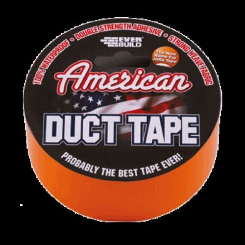 Everbuild American Duct Tape 50mm x 25mtr Jaffa Orange USDUCTOG25